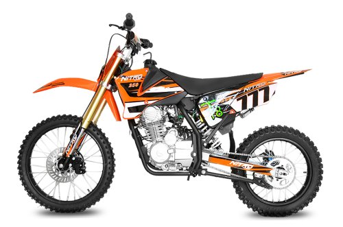Nitro Motors Hurricane 250cc Dirtbike 5-Gang Manuel 19/16 E-/Kick-Start (Orange) 1111655