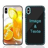 MXCUSTOM Coque Personnalisée Apple iPhone XS Max, Personnalisable Anti-Rayures Verre Trempé...