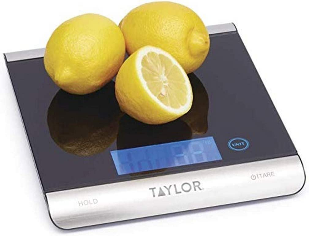 Taylor Pro High Capacity Kitchen Scales with Tare Functionality,