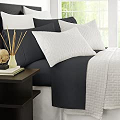 LUXURY & COMFORT - Slip into comfort! The Zen Bamboo Luxury 4-Piece 1500 Series Sheet Set is exactly what you need for a comfortable and relaxing night's sleep. Our sheet set is luxurious, stylish, and the softest sheets you'll ever own. And with an ...