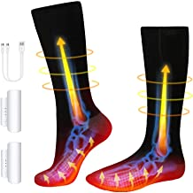 Heated Socks for Men Women, Electric Heating Socks Rechargeable Battery Socks Thick Winter Thermal Socks Foot Warmer for H...