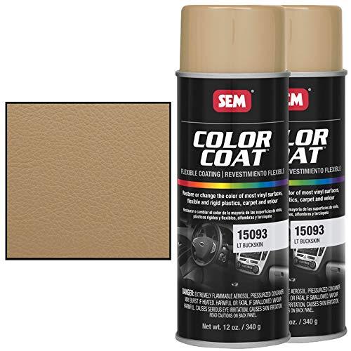 SEM Color Coat Vinyl Fabric Spray Paint 15023   an OEM Recommended Light Buckskin Automotive Paint...