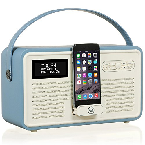 VQ Retro MK II - Radio Digital Dab & Dab+, Color Azul