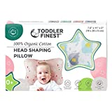Baby Head Shaping Pillow - 100% Organic Cotton 3D Air Mesh Breathable - Sleep Positioner...