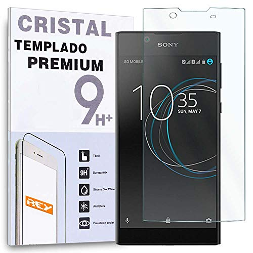 REY Protector de Pantalla para Sony Xperia L1, Cristal Vidrio Templado Premium