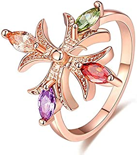 Swarovski Elements women's Unique Luxurious colorful bangle Crystal Gold Plated icro Pave Stone Cubic Zirconia Flowers Rin...