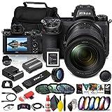 Nikon Z 6II Mirrorless Digital Camera 24.5 MP with 24-70mm f/4 Lens (1663) + 64GB XQD Card + Corel Software + Case + Color Filter Kit + Telephoto Lens + More - International Model (Renewed)