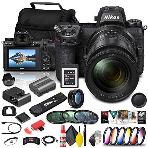 Nikon Z 6II Mirrorless Digital Camera 24.5 MP with 24-70mm f/4 Lens (1663) + 64GB XQD Card + Corel Software + Case + Color Filter Kit + Telephoto Lens + More - International Model (Renewed) -  1663_EDI_6RE