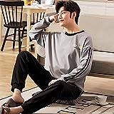 STJDM Bata de Noche,Full Pure Cotton Pajamas Men Long Sleeve Pijama Set for Male Plus Size Sleep Clothing Casual Nightie Sleepwear Man Pyjamas Suit 4XL ER2202
