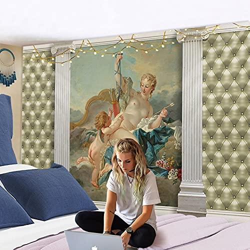 KHKJ Tapiz de ángel Mandala Colgante de Pared decoración del hogar Alfombra de Pared Sala de Estar Dormitorio alas de ángel Bohemio Fondo de TV A2 200x180cm