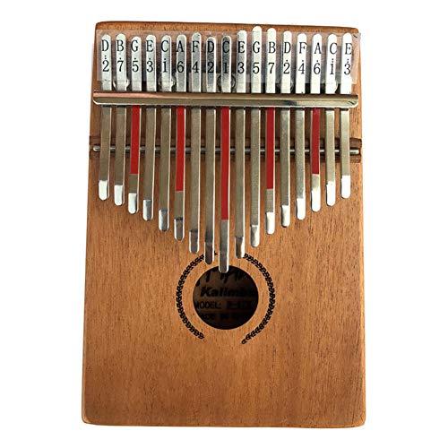 XLNB 17 Tasten Kalimba Daumen Klavier mit Stimmhammer, tragbare afrikanische Holz Finger Pianos Geschenk für Kinder Erwachsene Anfänger Professional