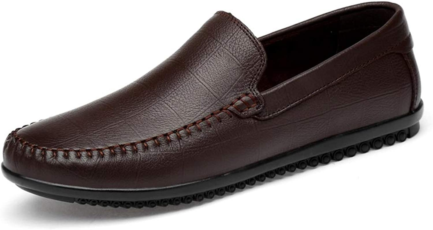 Men's shoes Fashion Driving Loafers Casual Comfortable Low-top Flexible Breathable Boat Moccasins (color   Darkbrown, Size   8.5 D(M) US)