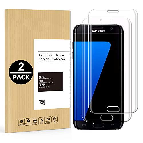 Protector de Pantalla Samsung Galaxy S7 Edge, [2 Unidades] Cristal Templado para...