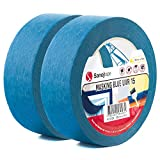 Sanojtape Professionelles UV-beständiges Abklebeband (2-Pack) Blau 38mm x 50m Für Innen und Außen Malerkrepp Malerband Malerabdeckband Abklebeband für alle Oberflächen