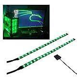 PC LEDストリップは磁石を持って、PCケースに飾ります照明(緑光LED、30cm、18leds、Sシリーズ)