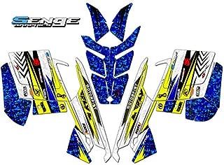 Compatible with Polaris 2010-2014 RUSH DEVIOUS Yellow Sled Wrap Kit
