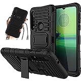 JammyLizarD Outdoor Hülle kompatibel mit Motorola Moto G8 Play Schutzhülle mit Handyband [Taurus] Doppelschutz Hardcase Silikon TPU Skin, Schwarz