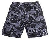 NEFF Youth Boys Razer Hot Tub Boardshort, Black Camo, Large