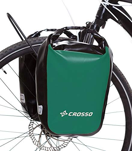 Crosso Unisex - Volwassenen DRY SMALL fietstas, groen, 30 L