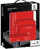 Real Madrid Cuadernos Unisex Adulto Set de Regalo pequeño Red 3' 3 equipacion 18/19 311957-588 PQÑO 3ª 28x35x6, Multicolor, Talla única