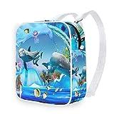 DEZIRO - Mochila para acuario, diseño de delfín y pingüino