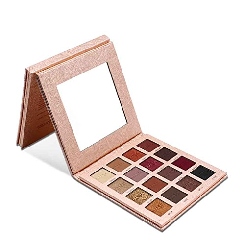 Babysbreath IMAGIC Shimmer Lidschatten-Palette 16 Farben Matte Smokey Eye-Puder-Glitter-Palette bilden Beauty Set mit Spiegel