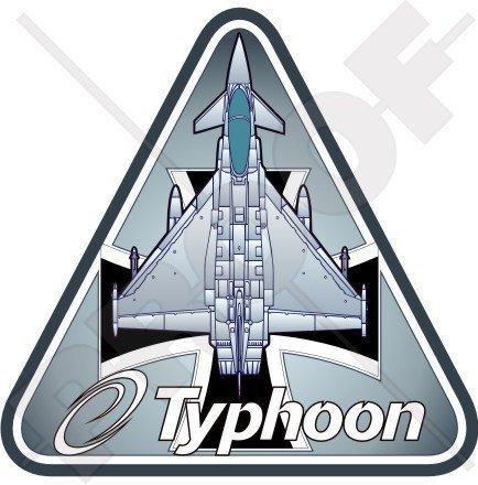 Eurofighter EF2000 TYPHOON Deutsche Luftwaffe LUFTWAFFE Deutschland Flugzeuge 95mm Auto & Motorrad Aufkleber, Vinyl Sticker