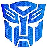 Reflective Light Transformers Autobot - Car,Motorcycle,Car Window, Truck, Notebook, Vinyl Decal Sticker,Autobot car Accessories,Vehicle Decorative Stickers (Dark Blue)