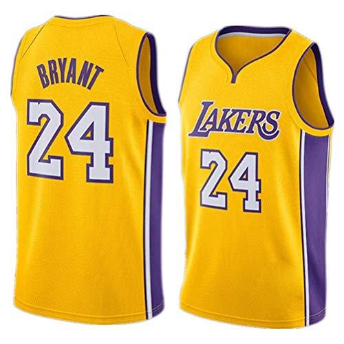 Rencai Kobe Bryant Grano de Jersey # 24 del Baloncesto de los Hombres, Los Angeles Lakers Multi-Estilo Nuevo Tejido Swingman de los Jerseys (Color : 6, Size : L)