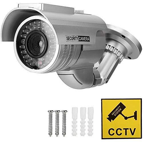 Xingxings Professionele bewakingscamera's dummy outdoor camera's dummy camera dummy camera dummy camera dummy met lens en knipperend videobewaking goederen beveiliging voor binnen en buiten