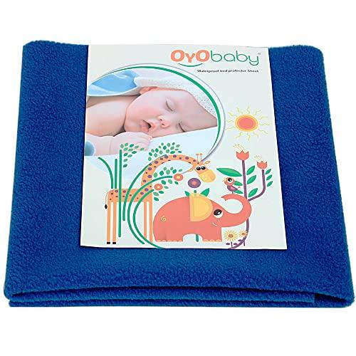 OYO BABY - Water Proof and Reusable Mat / Mattress Protector / Absorbent Sheets (100cm X 70cm, Medium) - Royal Blue