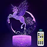 Carryfly Unicorn Night Light for Kids,Unicorn Toys Dimmable LED Nightlight Bedside Lamp,with Timer+ 7 Colors Changing,with Touch&Remote Control, for Boys and Girls,Birthday Present.