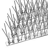 OFFO 鳥よけ 鳩よけ 100%ステンレス製 耐候性が抜群である 33cm×15個入り 取り付けアクセサリが付属 針が密集する カラスよけ フン害防止・景観を損なわずハトなどの害鳥による被害を防ぐ ベランダ・屋上・窓枠用 簡単設置 取扱説明書付き