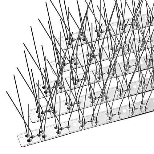 鳥よけ 鳩よけ 最新版 100%ステンレス 安心の5年間保証 33cm×22個入り 取り付けアクセサリが付属 針が密集する カラスよけ フン害防止・景観を損なわずハトなどの害鳥による被害を防ぐ ベランダ・屋上・窓枠用 簡単設置 取扱説明書付き