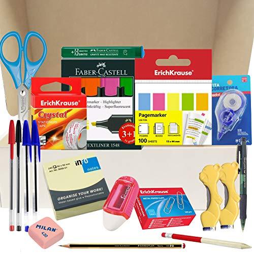Papelivi - Lote Pack Set Teletrabajo de Material de Oficina Papelería -...