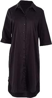 Belle Bird Womens Short Dresses Belle Shirt Maker Dress Black - Dresses