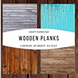 "Craft Paper Pad Wooden Planks 8.5""x8.5"" Craft Paper, 4 Designs, 20 Sheets: Decorative Designer Paper Pad For Scrapbooking, Card Making, Origami, DIY ... (Scrapbook Paper Packs) (Papercraft, Band 2) - House And Home"