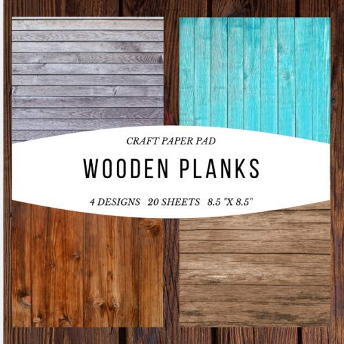 Craft Paper Pad Wooden Planks 8.5