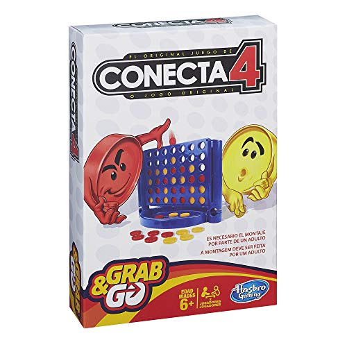 Hasbro Gaming- Conecta 4 Gaming Travel Juego de Viaje, Versión español (Hasbro Spain B1000175)