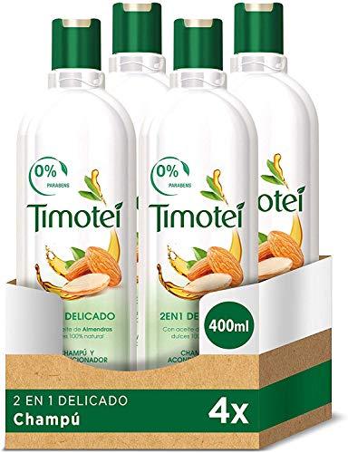 Timotei - Champú 2 En 1 Delicado 400 ml - [paquete de 4]