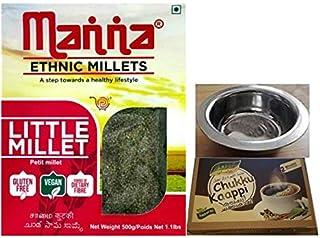 Manna Health Mix - Manna Little Millet 500gm Gluten Free, With Free Assal Dry Ginger Coffee Powder - 100g & & Nimita Brand...