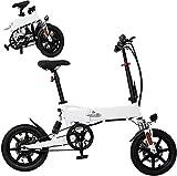 Bicicleta Eléctrica Bicicletas eléctricas plegables para adultos, aleación de aluminio Bicicletas, 14 '36V 250W Batería de iones de litio extraíble Ebike, 3 modos de trabajo Batería de litio Playa Cru