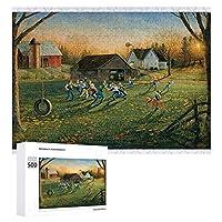 ラグビーボーイ 500ピースのパズル木製パズル大人の贈り物子供の誕生日プレゼント1000ピースのパズル