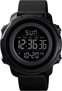 Men's Digital Sports Watch Military Electronic Waterproof Wrist Watches for Men with Stopwatch...