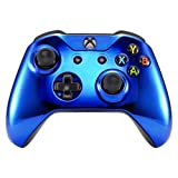 eXtremeRate Chrome Blue Edition Front Housing Shell