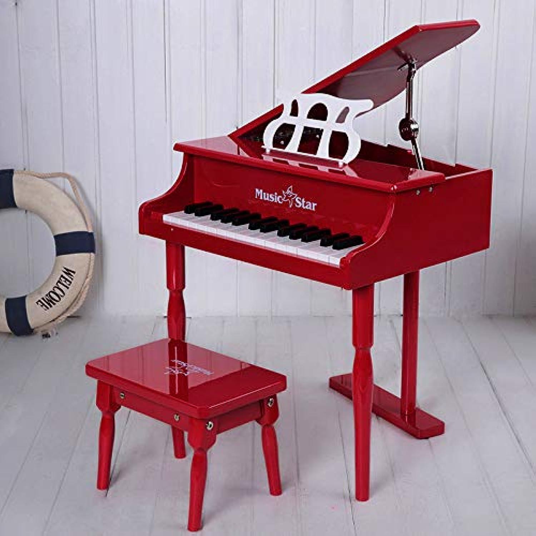 KLEDDP Jouet mécanique 30 Touches Petit Enfants de Piano en Bois bébé InstruHommest de l'illumination de Piano Peut Jouer Piano à Clavier pour Enfants (Couleur   rouge)