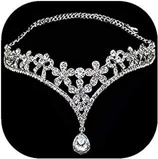 Wedding Bridal Women's Crystal Flower Decor Crown Headband Headdress Tiara