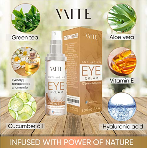 51vYTBj1itL - Eye Cream Treatment for Anti-Aging, Bags, Puffiness, Circles, Wrinkles, Dark Circles Under Eyes - Best Organic Natural Eye Gel For Men and Women with Hydrating Serum and Vitamin C