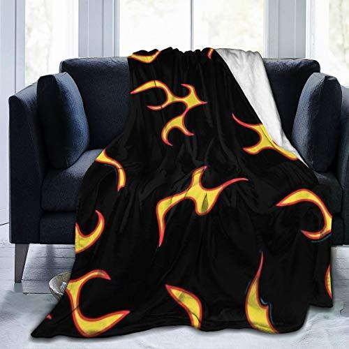 "Best Fleece Bed Blankets, Flame Art Visual Graphics in The Dark Halloween Throw Blankets, Wrinkle-Resistant Ultra Soft Travel Blanket fit Toddler Outdoor Dorm Room - 60""""x50, Soft Children Blanket"