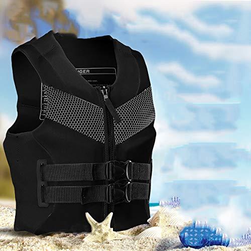GAYBJ Chaleco de baño para Adulto Chaquetas de baño de Ayuda de flotabilidad Chaqueta de Seguridad de flotación de Snorkel portátil Mejores Chalecos de natación para Deportes acuáticos,Negro,XXXL